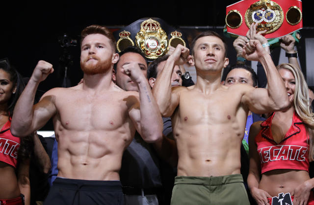 "A third fight between Canelo Alvarez and Gennadiy Golovkin should be easy to make but the two sides are reportedly at an ""impasse."" (AP Photo/John Locher)"