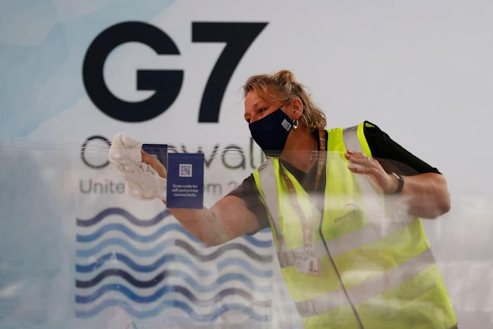 In Cornwall, G7 leaders are expected to announce they will provide at least 1 billion vaccine doses to lower-income countries (AFP via Getty Images)