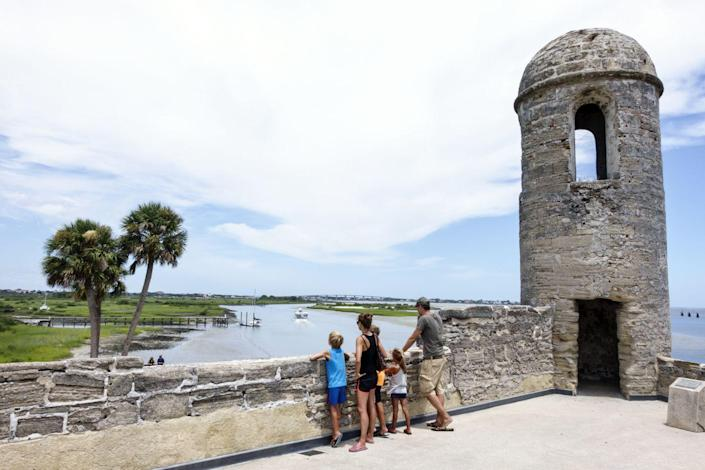 """<p><strong>Established in:</strong> 1565</p><p>Not only is St. Augustine the oldest city in Florida, it's also known as the <a href=""""https://www.history.com/news/st-augustine-first-american-settlement"""" rel=""""nofollow noopener"""" target=""""_blank"""" data-ylk=""""slk:first settled city"""" class=""""link rapid-noclick-resp"""">first settled city</a> in the United States. It was founded in September 1565 by Pedro Menéndez de Avilés, a Spanish solider who chose the name based on the date he first spotted it: it was the feast day of St. Augustine. </p>"""