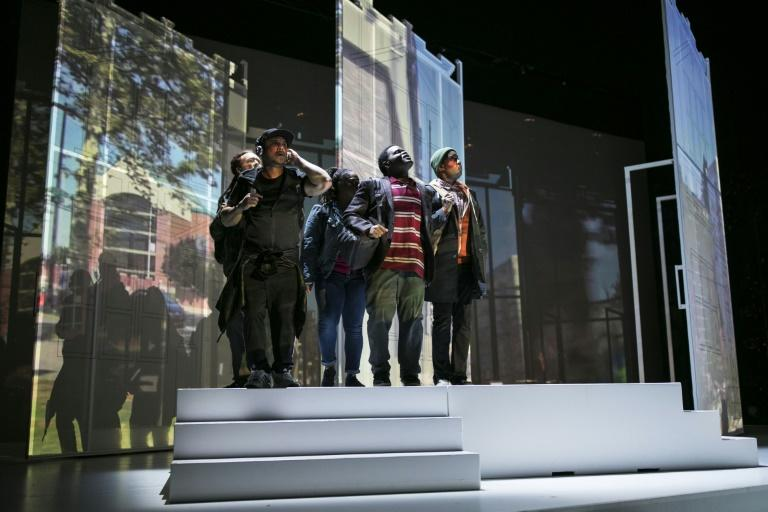 The cast of 'We Shall Not Be Moved' in a dress rehearsal for the new opera, set in Philadelphia after police bombed the compound of a black liberation group