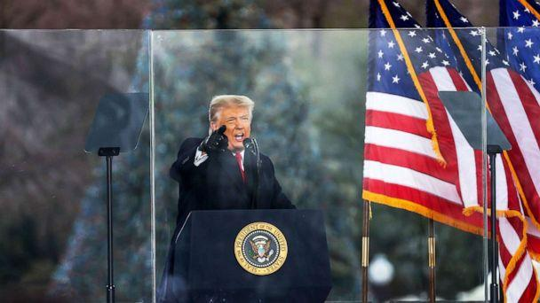 PHOTO: President Donald Trump speaks at 'Save America March' rally in Washington D.C., Jan. 06, 2021. (Anadolu Agency via Getty Images, FILE)