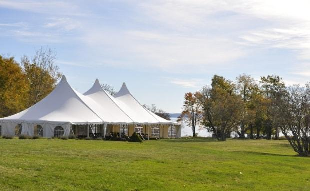 Ministers Island purchased the 40-by-80-foot marquee tent in 2019. It will now act as a dining area for guests.
