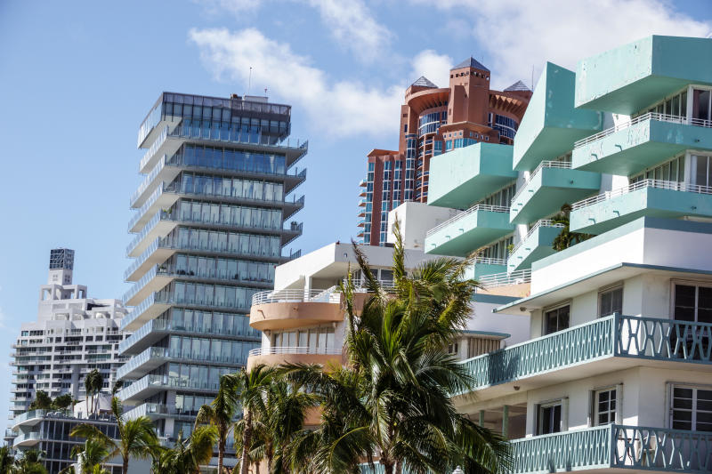 Florida, Miami, South Beach, Hotels and luxury condos. (Photo by: Jeffrey Greenberg/Universal Images Group via Getty Images)