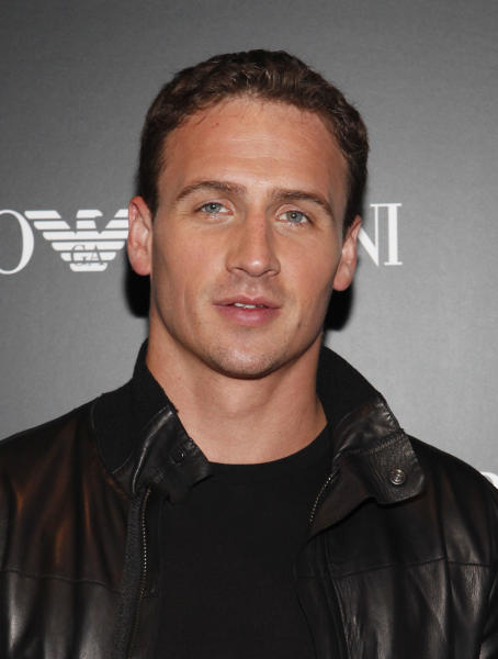 FILE - This Sept 7, 2012 file photo shows Olympic swimmer Ryan Lochte arrives to the Emporio Armani Opening Party during Fashion Week in New York. Lochte is among the Latino U.S. Olympians to be honored at this year's ALMA Awards. Eva Longoria and George Lopez are returning for the third time as co-hosts of this month's awards, which celebrate Latino achievements in music, television and film. The announcement was made Tuesday, Sept. 11. (Photo by Amy Sussman/Invision/AP, file)
