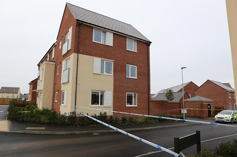 Police cordoned off part of a road in Earls Barton. (Anita Maric/SWNS)