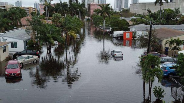 PHOTO: A street is inundated with flood water in Hallandale, Fla., Dec. 23, 2019. (Joe Raedle/Getty Images)