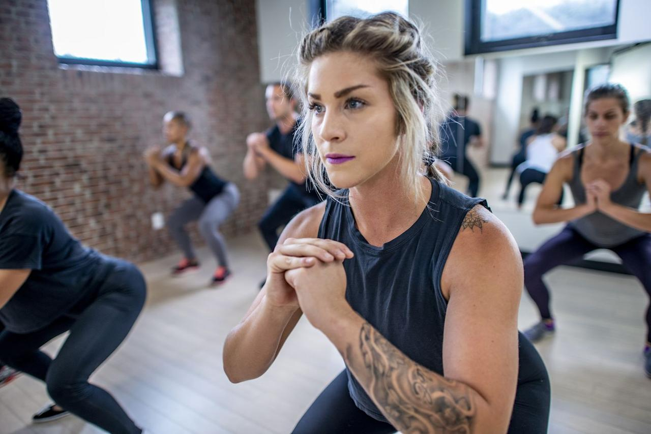 """<p>""""The higher the intensity of the exercises, the harder you will stress the body,"""" says Proniewych. """"This would mean you will need more ATP energy and oxygen after for your body to recover."""" </p>"""