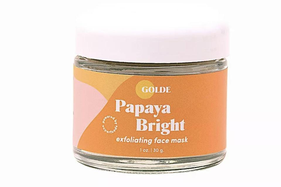<p>The <span>Golde Papaya Bright Superfood Face Mask</span> ($34) is a great way to give yourself a mini-facial at home. It's hydrating and gives boost of radiance with vitamin C.</p>
