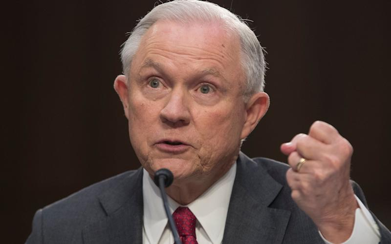 Jeff Sessions, the US attorney general - EPA/MICHAEL REYNOLDS