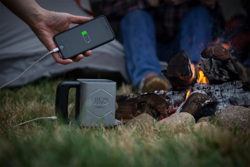 Spark uses heat and cold differential to generate electricity to power phones