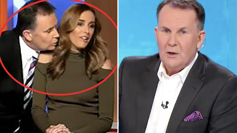 Tony Jones, pictured here after an embarrassing mishap with Bec Judd in 2016.