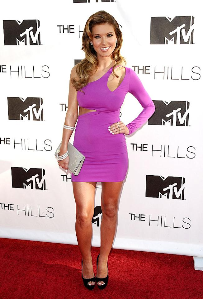 "Call us crazy, but we still can't get over how unstylish Spencer's former ""Hills"" co-star Audrina Patridge looked at the show's star-studded finale last week in a skimpy, skintight, and sleazy ensemble. Jason LaVeris/<a href=""http://www.filmmagic.com/"" target=""new"">FilmMagic.com</a> - July 13, 2010"