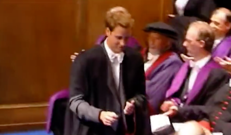 Footage has resurfaced from Prince William's graduation ceremony