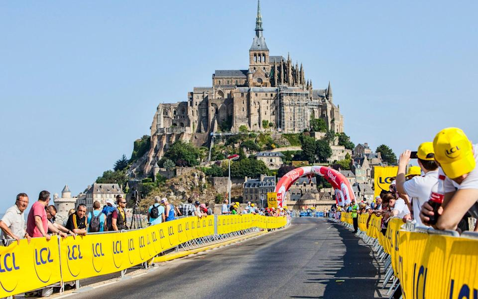 Le Mont Saint Michel in a previous year's race - Getty