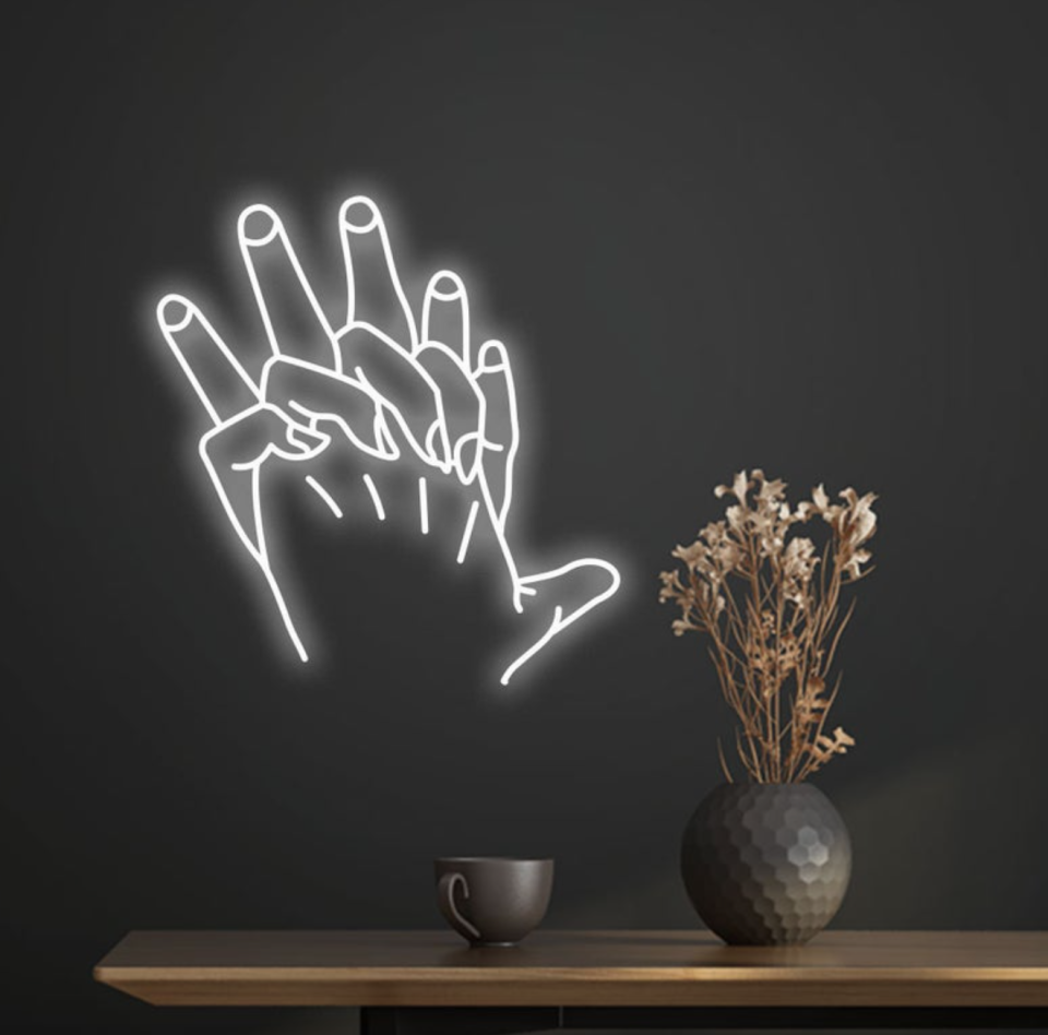 'Hands' Neon Sign (Photo via Etsy)