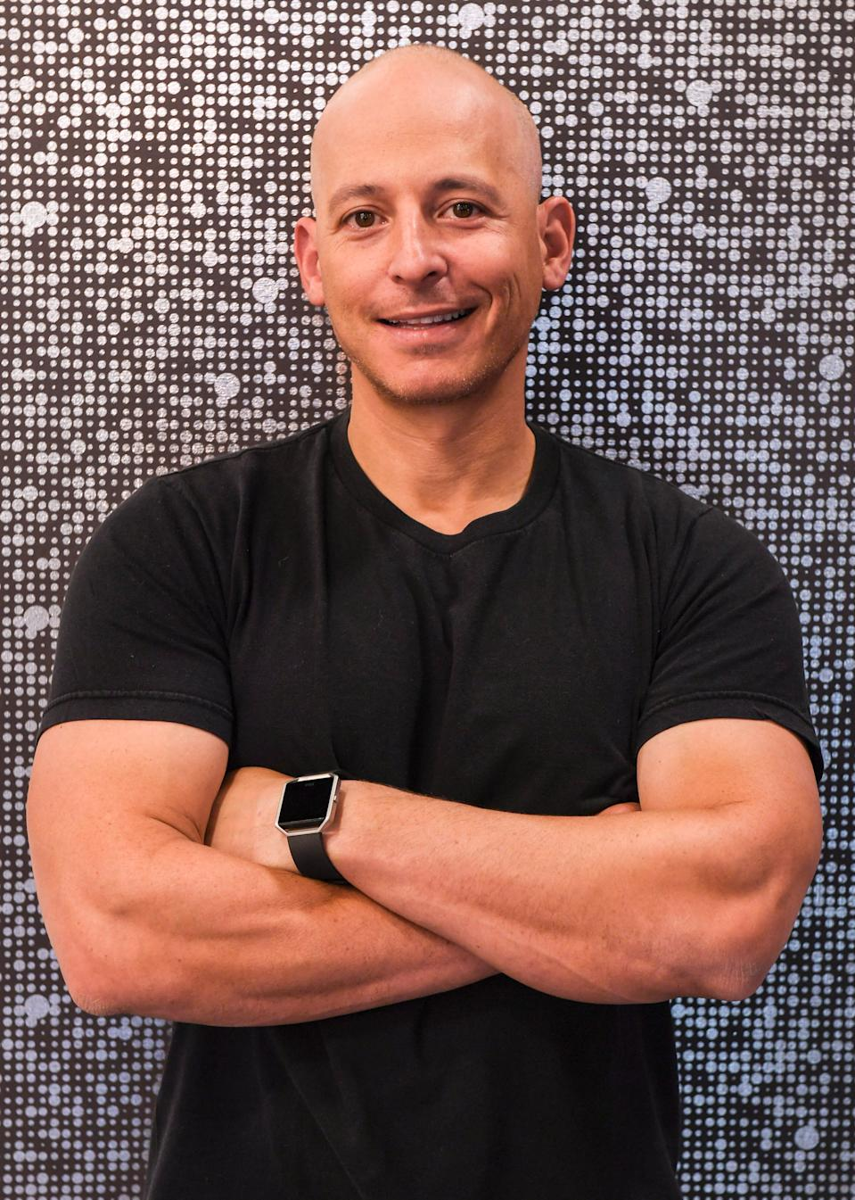 TORONTO, ONTARIO - MARCH 31:  Celebrity fitness trainer Harley Pasternak helped introduce Fitbit Alta, a slim, sleek fitness wristband that can be personalized to fit your style to Make Toronto Your Gym Event on March 31, 2016 in Toronto, Canada.  (Photo by George Pimentel/Getty Images for Fitbit)
