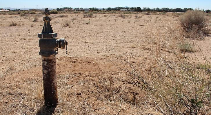 a water pipe in the middle of the desert