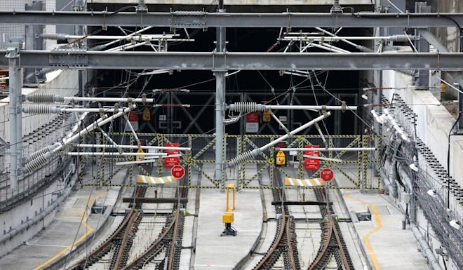 A view of the tracks on the MTR's Sha Tin to Central link from Hung Hom station. Photo: Dickson Lee