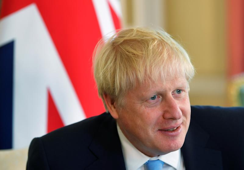 Prime Minister Boris Johnson attends a meeting with King Abdullah II of Jordan at 10 Downing Street in London.