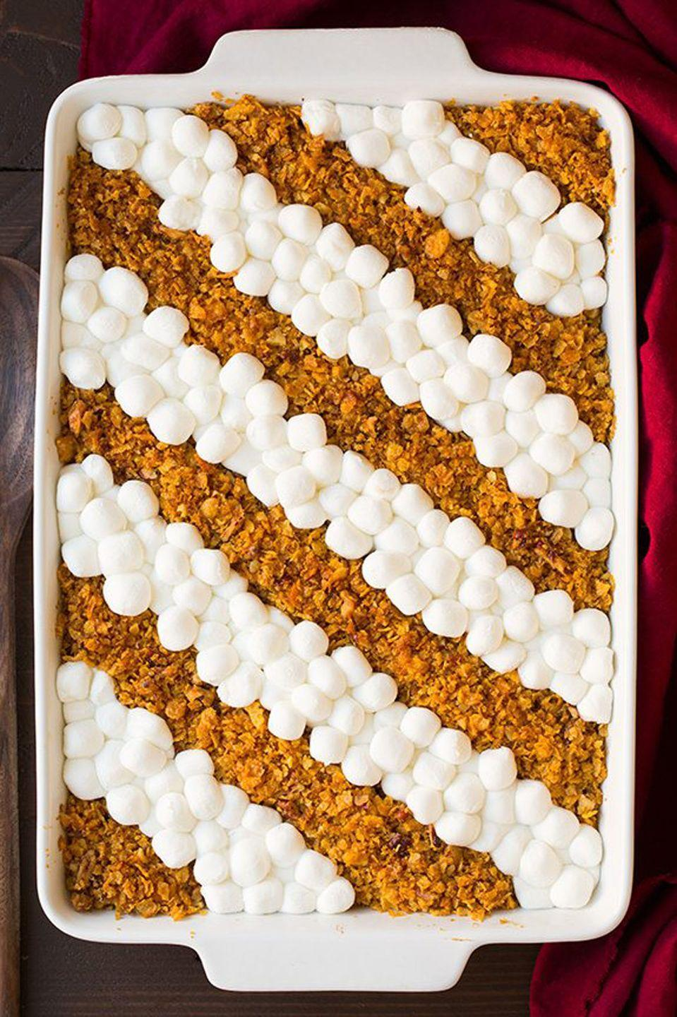 "<p>It might be a side dish, but this gorgeous <a href=""https://www.countryliving.com/food-drinks/g3787/sweet-potato-casserole/"" rel=""nofollow noopener"" target=""_blank"" data-ylk=""slk:sweet potato casserole"" class=""link rapid-noclick-resp"">sweet potato casserole</a> steals the show.</p><p><strong>Get the recipe at <a href=""https://www.cookingclassy.com/browned-butter-sweet-potato-casserole/"" rel=""nofollow noopener"" target=""_blank"" data-ylk=""slk:Cooking Classy"" class=""link rapid-noclick-resp"">Cooking Classy</a>.</strong> </p>"
