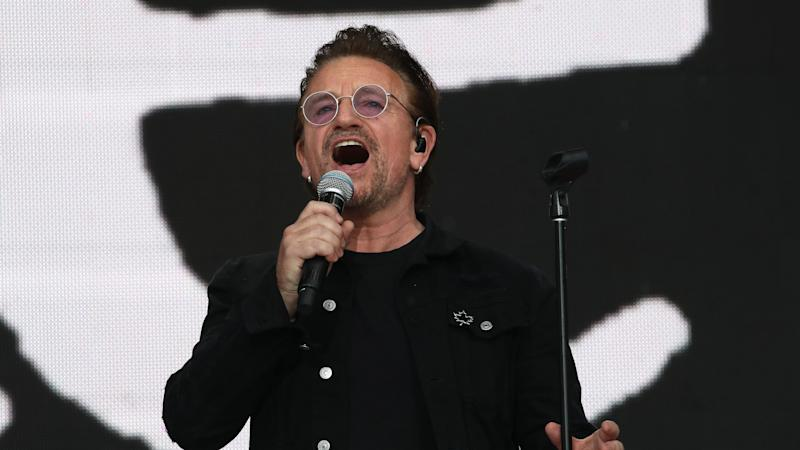 Bono announces street artist campaign in fight against Aids