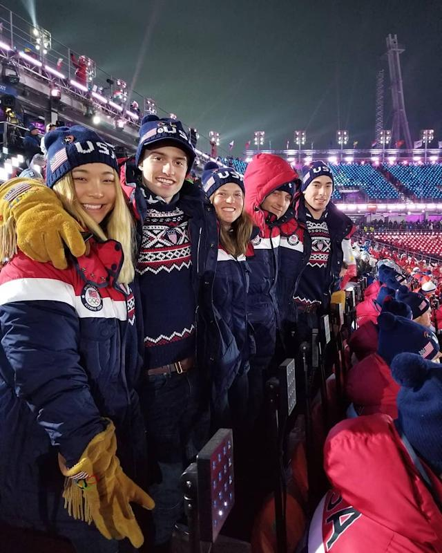 <p>Chloe Kim USA, snowboarder: Opening ceremonies were such an insane experience! Love it here (Photo via Instagram/chloekimsnow) </p>