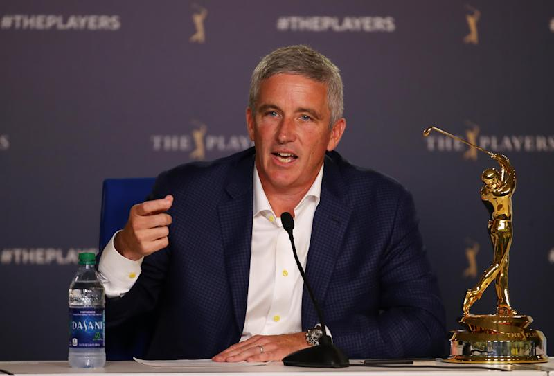 PGA Tour commissioner Jay Monahan is not a fan of the proposed Premier Golf League, which he said is designed to specifically conflict only with Tour events.