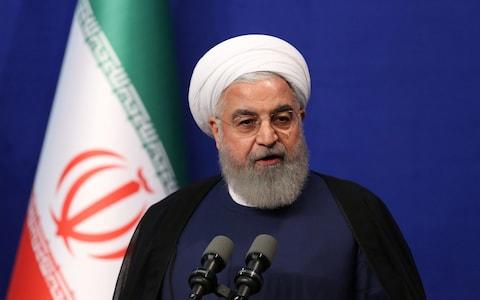 <span>Iranian President Hassan Rouhani has given Europe and China a 60-day deadline to challenge the US</span> <span>Credit: Official President website/Handout via REUTERS </span>