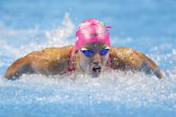"""<p>In 2019, Smith seemed poised to be unstoppable at the Olympics in 2020, but, of course, things didn't quite work out as planned. After months away from training due to COVID-19 restrictions, Smith revealed, training didn't exactly start out smoothly.</p> <p>""""By the time August rolled around, <a href=""""http://www.swimmingworldmagazine.com/news/exclusive-regan-smith-handling-stresses-and-regaining-her-mojo-in-time-for-olympic-trials/"""" class=""""link rapid-noclick-resp"""" rel=""""nofollow noopener"""" target=""""_blank"""" data-ylk=""""slk:training was really rough"""">training was really rough</a> because we weren't doing as much as we had been and I wasn't going as fast as I had normally been going in practice,"""" Smith told <strong>Swimming World</strong>. """"Backstroke, in particular, felt really rough. I remember it got to the point where I would avoid backstroke and do butterfly instead, just because backstroke felt so funky. Nobody really wants to do fly in practice.""""</p> <p>She had a breakthrough by the end of 2020, but she still had to work to stay both physically and mentally prepared. """"It's weird,"""" Smith explained to <strong>Swimming World</strong> prior to the Olympic trials. """"If this were a year ago, I'd be like, 'Sick. I just did those times a year ago. I'm ready to do them again.' And now, I'm two years removed. We'll see what happens."""" Smith did, of course, ultimately qualify for the Olympics - but not in the event that had been her signature, the 200m backstroke.</p>"""