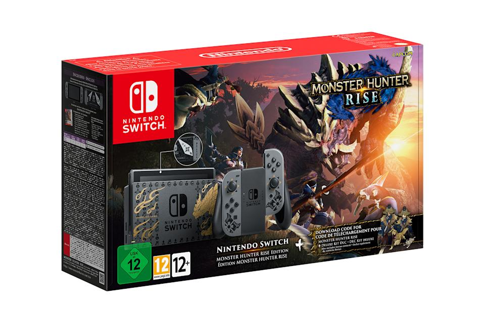 Nintendo limited edition 'Monster Hunter Rise' Switch box