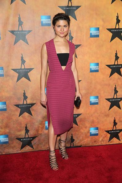 "<p>Phillipa Soo, a ""Hamilton"" castmember, worked it in a fresh ensemble featuring a magenta dress and black bandeau.</p>"