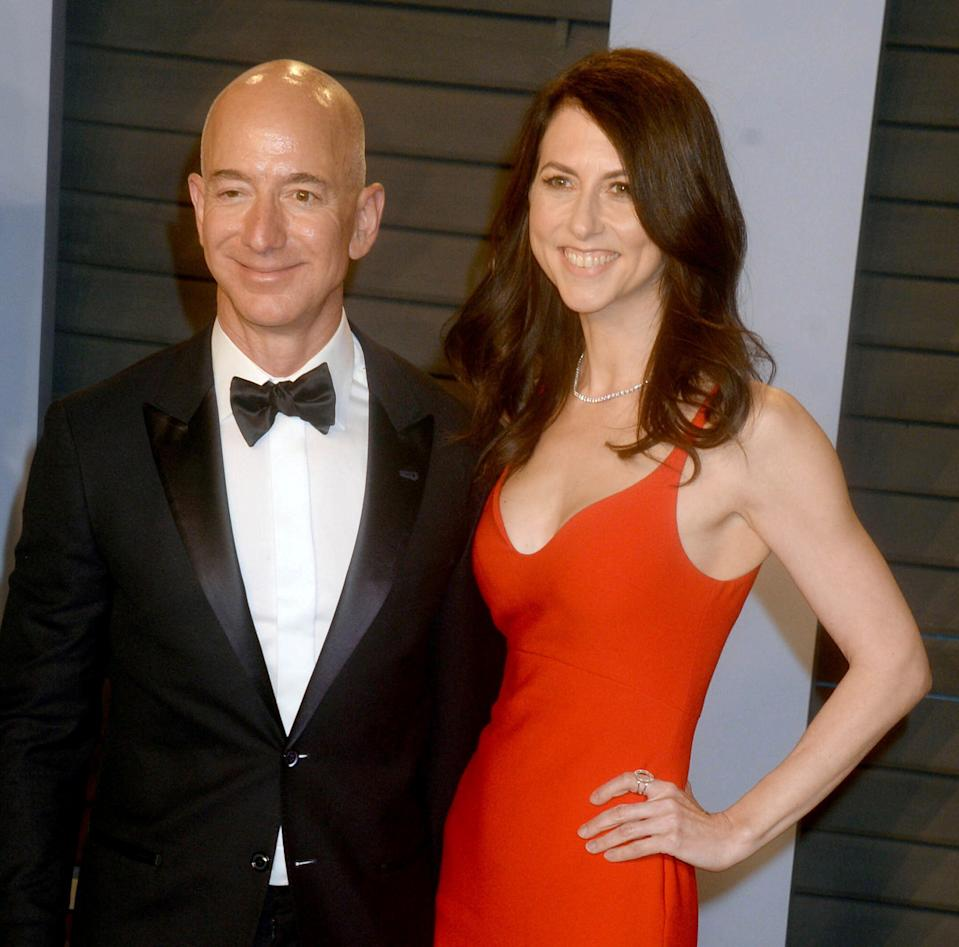 Photo by: Dennis Van Tine/STAR MAX/IPx 2019 3/4/18 Jeff Bezos and wife, MacKenzie Bezos at The 2018 Vanity Fair Oscar Party in Beverly Hills, CA.