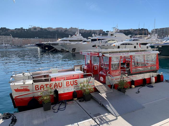 Monaco now uses modes of public transportation such as electric shuttle boats.