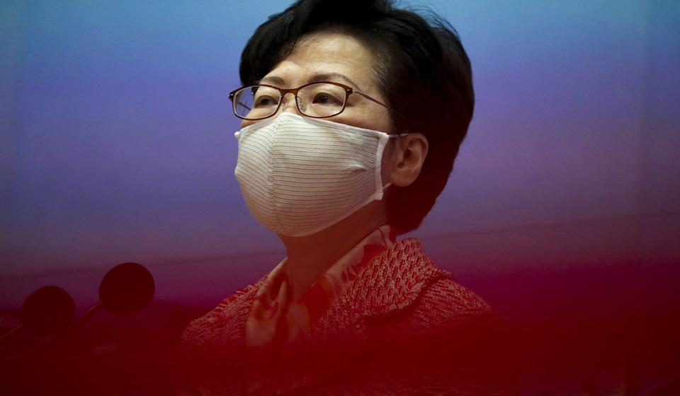 Carrie Lam is one of 11 current or former officials hit with economic sanctions. Photo: Nora Tam