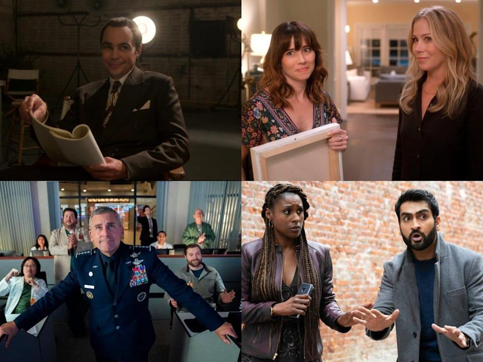 """""""Hollywood,"""" """"Dead to Me"""" Season 2, """"Space Force"""" and """"Lovebirds"""" are among Netflix's May offerings."""