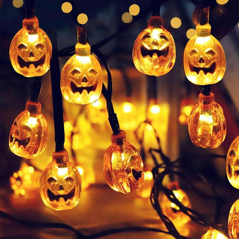 Solar String Jack-O-Lantern Lights
