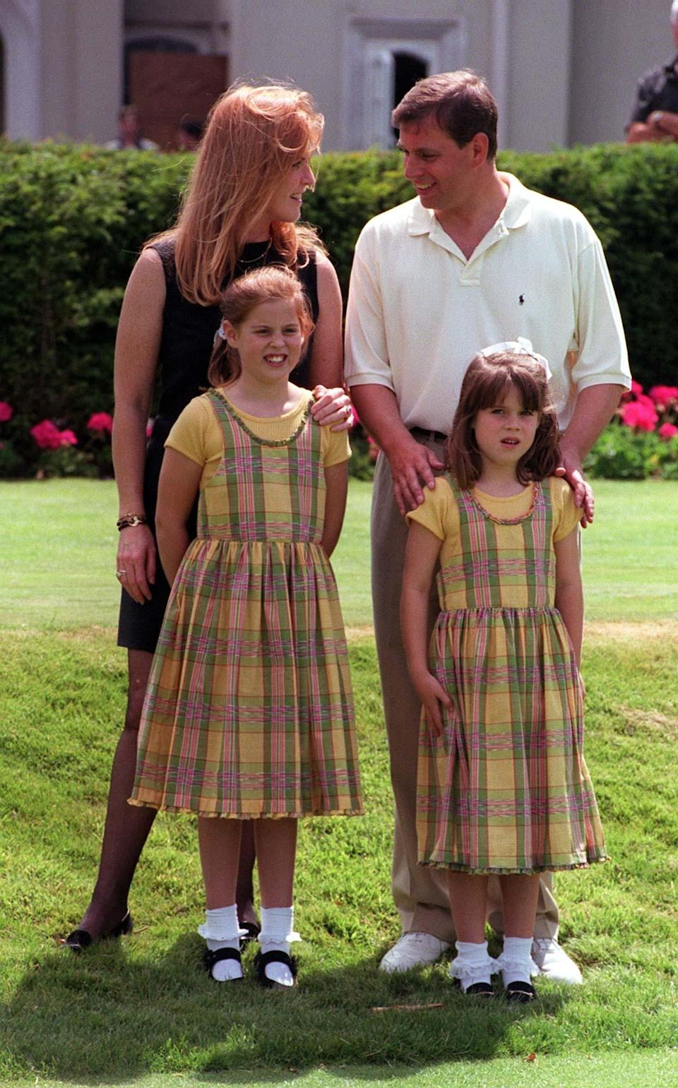 The Duke and Duchess of York with their daughters in 1998 [Photo: PA]