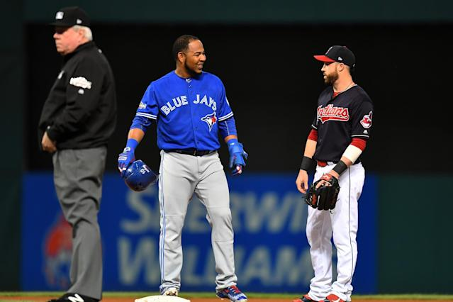 The Indians found their missing bat in slugger Edwin Encarnacion. (Getty Images)