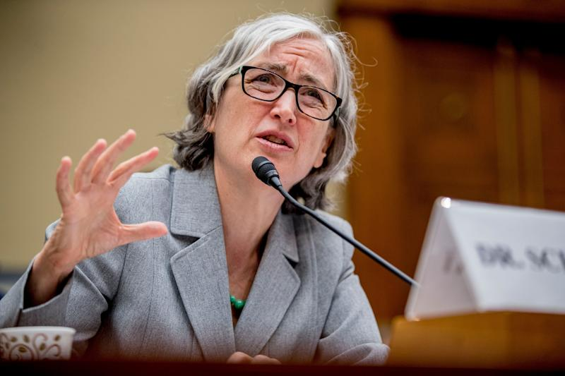 Anne Schuchat of the CDC speaks before a House Oversight subcommittee hearing on lung disease and e-cigarettes in Washington on Sept. 24.
