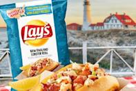 """<p>It's """"surf and turf."""" Sorta. Creamy, New England lobster roll flavor meets crispy Lay's chips. Another <a href=""""https://www.delish.com/food-news/a22338147/lays-tastes-of-america-chips/"""" rel=""""nofollow noopener"""" target=""""_blank"""" data-ylk=""""slk:interesting creation"""" class=""""link rapid-noclick-resp"""">interesting creation</a> from the """"Taste of America"""" promotion, sour cream, onion powder, and bell pepper are listed among the seasonings.</p>"""