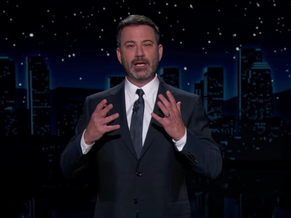 Jimmy Kimmel condemned Donald Trump's recent attacks on Dr Anthony Fauci (YouTube/Jimmy Kimmel Live)