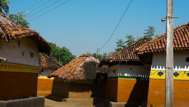 Houses painted during Sohrai