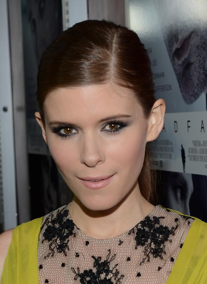 "HOLLYWOOD, CA - NOVEMBER 29:  Actress Kate Mara attends the premiere of Magnolia Pictures' ""Deadfall"" at the at the ArcLight Cinemas on November 29, 2012 in Hollywood, California.  (Photo by Michael Buckner/Getty Images)"