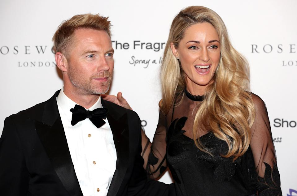 Ronan Keating and Storm Keating attending the 9th Annual Global Gift Gala held at the Rosewood Hotel, London. (Photo by David Parry/PA Images via Getty Images)