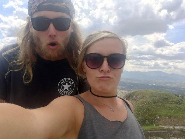 PHOTO: In this undated photo provided by the Deese family of Chynna Deese, 23-year-old Australian Lucas Fowler, left, and 24-year-old American girlfriend Chynna Deese poses for a selfie. (Chynna Deese/Deese Family via AP)