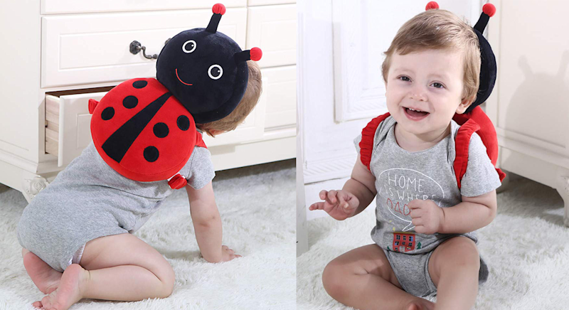 These cute animal backpacks are designed to protect your baby's head [Photo: Amazon]