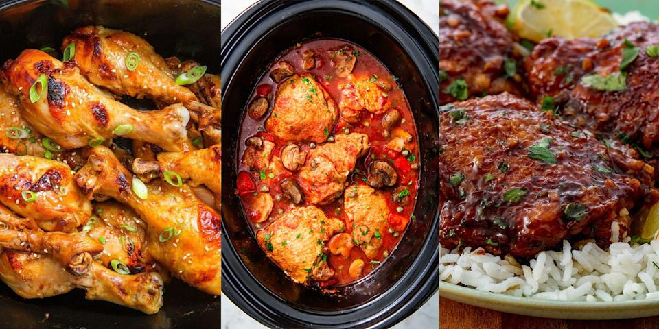 "<p>Slow cooker recipes are a win/win, they're easy to make and always delicious. But low carb slow cooker recipes? Well, there's more than you may think! Whether it's <a href=""https://www.delish.com/uk/cooking/recipes/a30208240/slow-cooker-chicken-cacciatore-recipe/"" rel=""nofollow noopener"" target=""_blank"" data-ylk=""slk:Slow Cooker Chicken Cacciatore"" class=""link rapid-noclick-resp"">Slow Cooker Chicken Cacciatore</a>, <a href=""https://www.delish.com/uk/cooking/recipes/a30465444/crockpot-chicken-fajitas-recipe/"" rel=""nofollow noopener"" target=""_blank"" data-ylk=""slk:Slow Cooker Chicken Fajitas"" class=""link rapid-noclick-resp"">Slow Cooker Chicken Fajitas</a> or <a href=""https://www.delish.com/uk/cooking/recipes/a30465190/easy-crockpot-butternut-squash-soup-recipe/"" rel=""nofollow noopener"" target=""_blank"" data-ylk=""slk:Slow Cooker Butternut Squash Soup"" class=""link rapid-noclick-resp"">Slow Cooker Butternut Squash Soup</a>, there's plenty of low carb recipes for you to try in your slow cooker. And we've rounded up our favourites now.</p>"