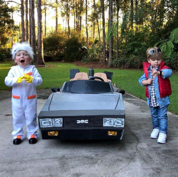 PHOTO: Row Willis, 2, is going as characters Marty McFly and his brother Charlie is going as Doc from the film, 'Back to the Future.' (Lauren Willis)