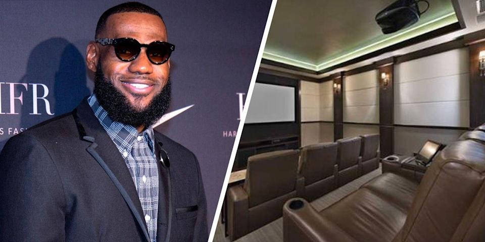 <p>Basketball star Lebron James' former waterfront Miami mansion was equipped with a custom theater, wine cellar, and even a dock for two yachts.<br></p>