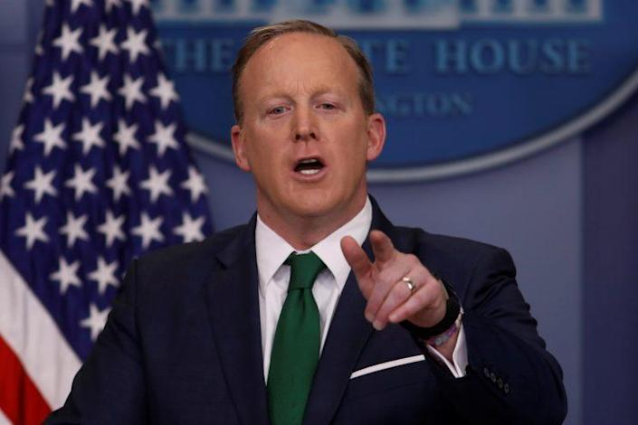 Press Secretary Sean Spicer holds his daily press briefing at the White House in Washington on March 16, 2017. (Photo: Jonathan Ernst/Reuters)